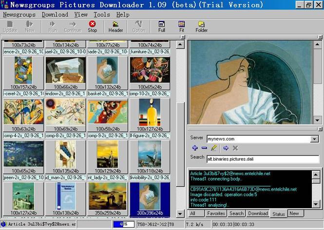 Newsgroups Pictures Downloader Screenshot 1