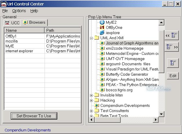 URL Control Center Screenshot 3