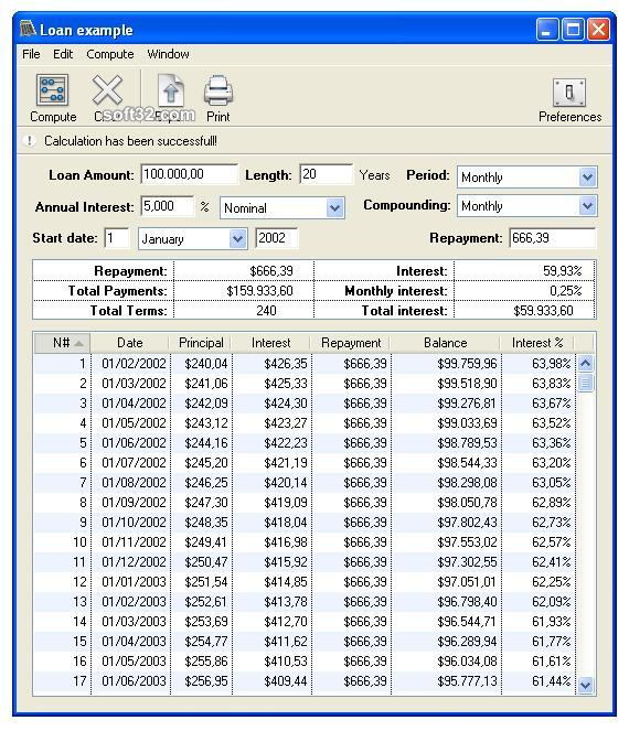 Loan Calc Screenshot 2