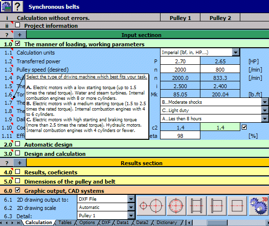 MITCalc Screenshot