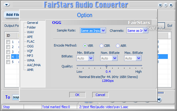 FairStars Audio Converter Screenshot 2