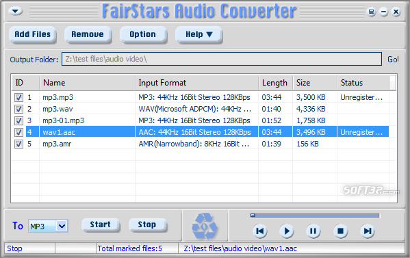 FairStars Audio Converter Screenshot 4