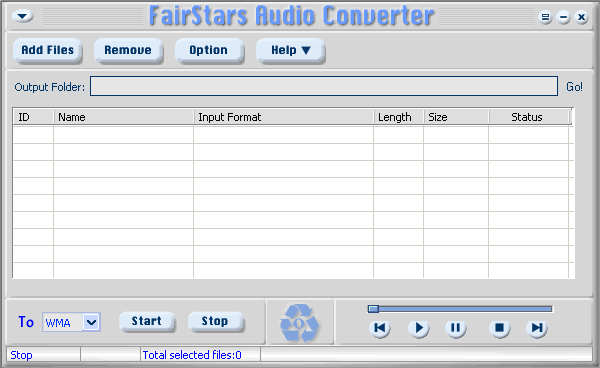 FairStars Audio Converter Screenshot