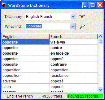 WordStone Dictionary Screenshot