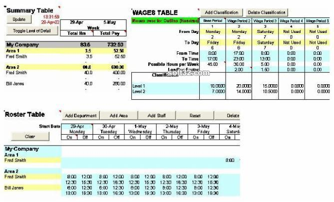 Wage Calculator Excel Screenshot 3