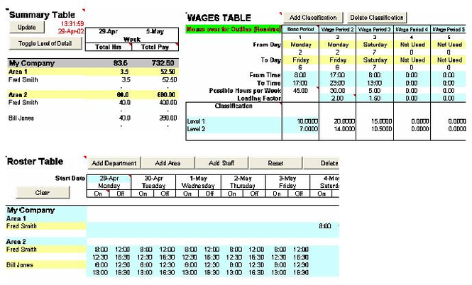 Wage Calculator Excel Screenshot
