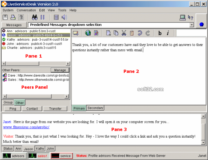 LiveServiceDesk Screenshot