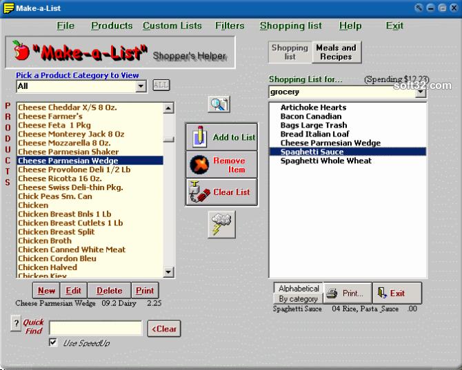 Make-a-List Shoppers Helper Screenshot 3
