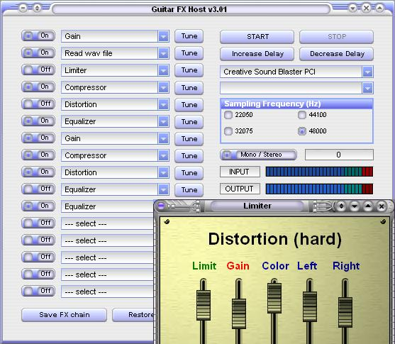 GuitarFX Screenshot 1
