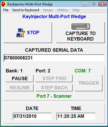Plexis KeyInjector Serial Wedge Software Screenshot