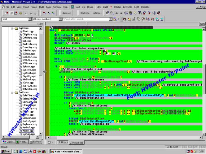 HVRaster - Programmers Editor Font Screenshot 1
