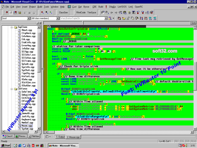 HVRaster - Programmers Editor Font Screenshot 3