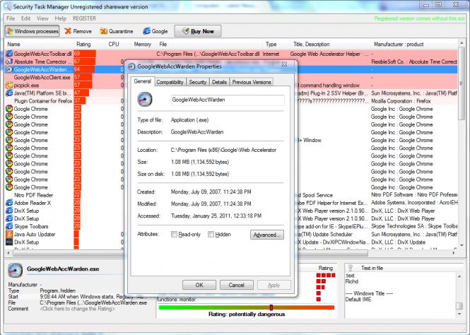 Security Task Manager Screenshot 3