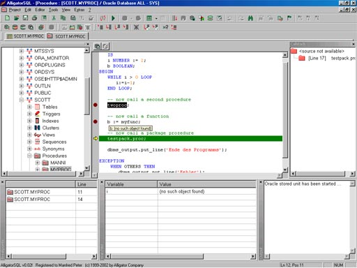 AlligatorSQL Enterprise Edition Screenshot