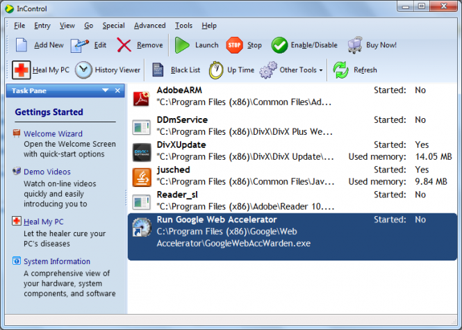 InControl Screenshot 2