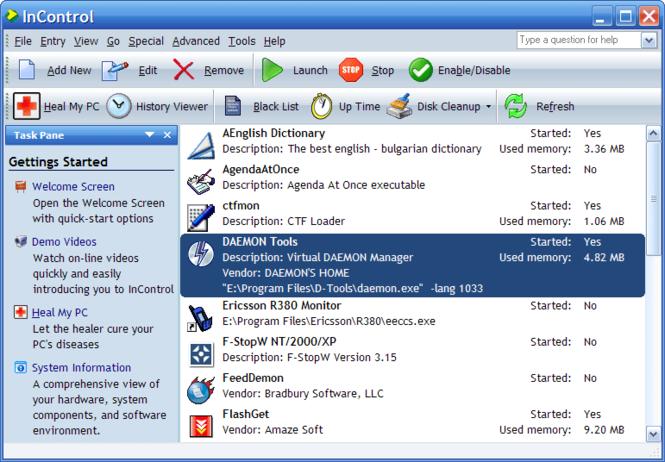 InControl Screenshot