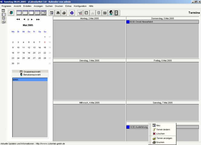 jCalendar Screenshot
