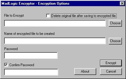 MadLogic Encryptor Screenshot 1
