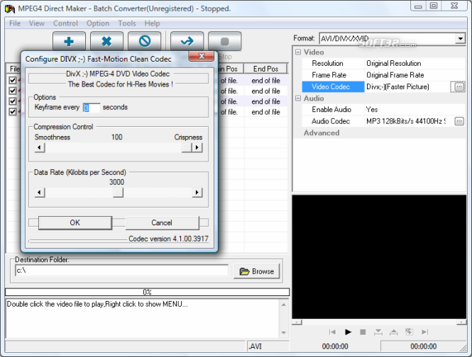 MPEG4 Direct Maker Screenshot 3