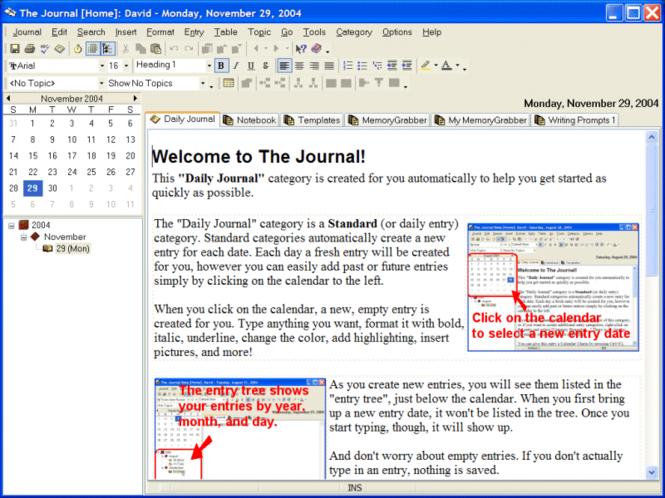 The Journal Screenshot 1