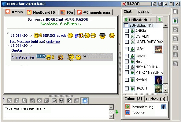 BORGChat Screenshot 1