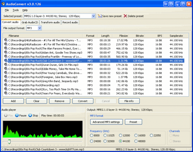 AudioConvert Screenshot