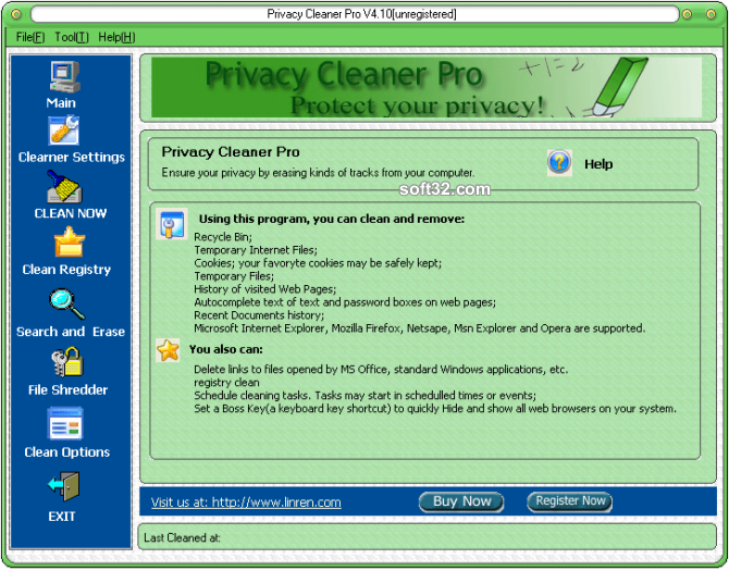 Privacy Cleaner Pro Screenshot 1