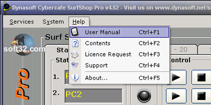 Dynasoft Cybercafe SurfShop Pro Screenshot 2