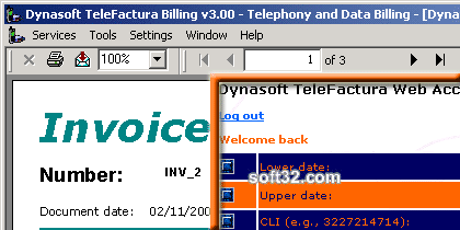 Dynasoft TeleFactura Screenshot 2