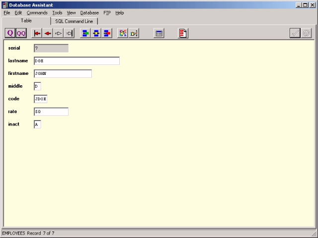 Database Assistant Screenshot