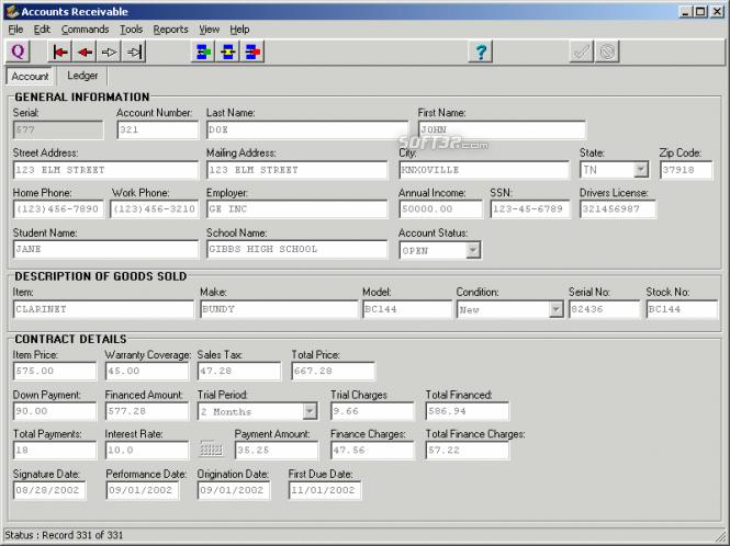 Accounts Receivable Screenshot 2