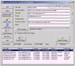 Link Exchange Manager Screenshot 2