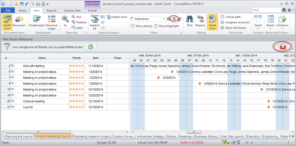 ConceptDraw PROJECT Screenshot 3