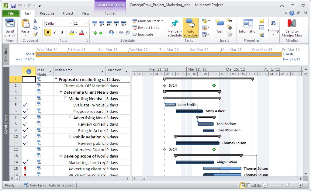 ConceptDraw PROJECT Screenshot 4