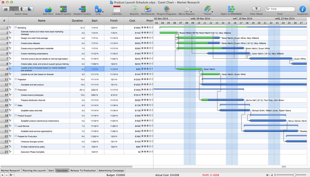 ConceptDraw PROJECT Screenshot 5