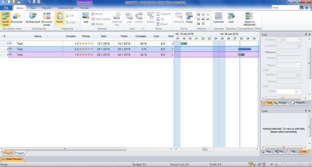 ConceptDraw PROJECT Screenshot 2