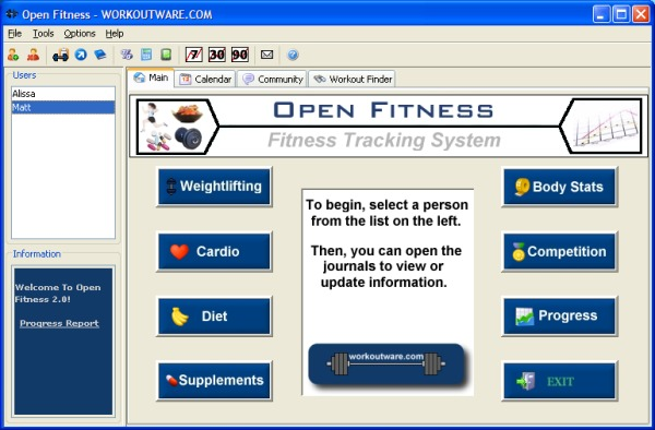 Open Fitness Screenshot