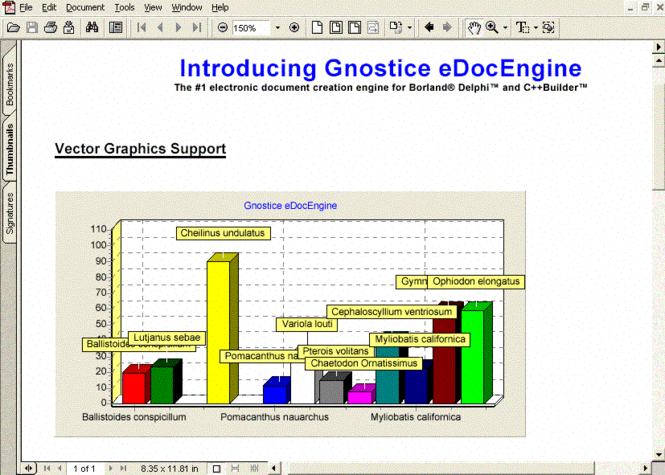 eDocEngine VCL Screenshot