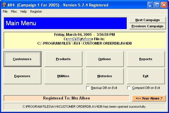 AV4 Software for Avon Reps Screenshot 1