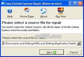 Easy Outlook Express Repair Screenshot 3