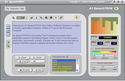A1 SpeechTRON Screenshot