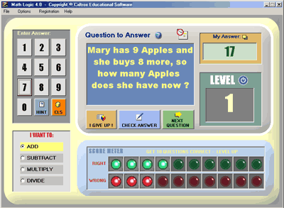 Math Logic Screenshot