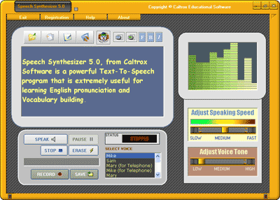 Text To Speech Synthesizer Screenshot