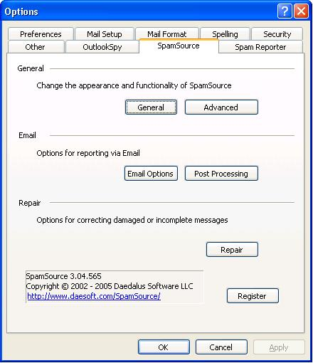 SpamSource Screenshot 1