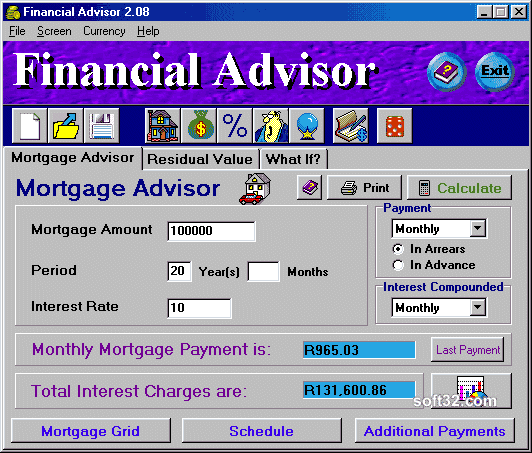 Financial Advisor Screenshot