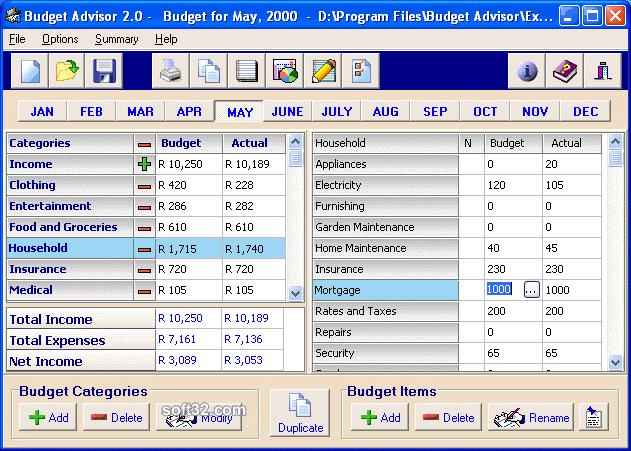 Budget Advisor Screenshot 3