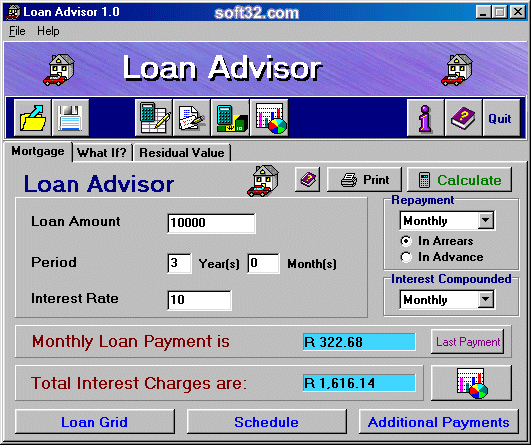 Loan Advisor Screenshot