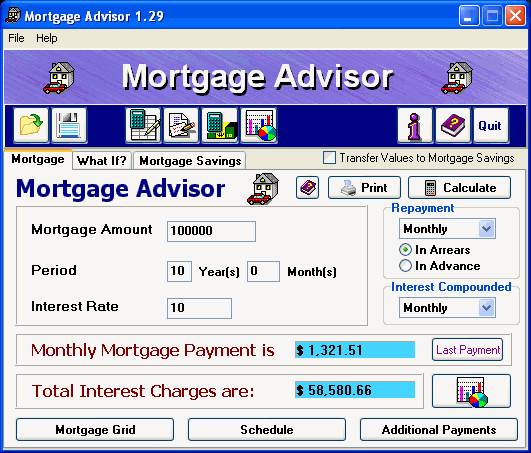 Mortgage Advisor Screenshot