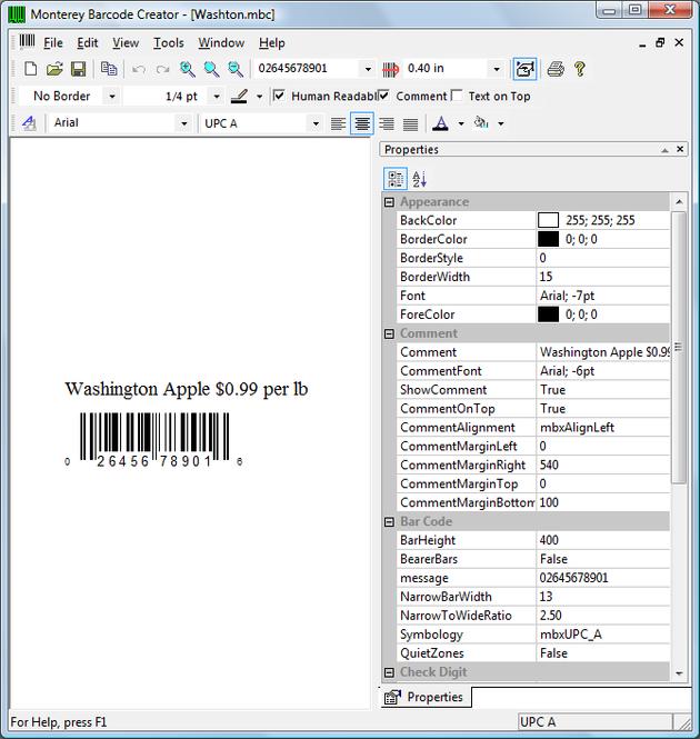 Monterey Barcode Creator Screenshot 1