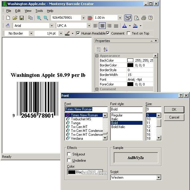 Monterey Barcode Creator Screenshot 2
